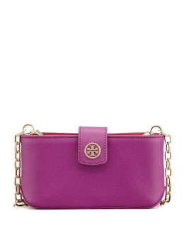 Tory Burch Robinson Smart Phone Crossbody Bag, Fuchsia