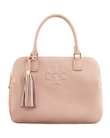 Thea Triple-Zip Tote Bag, Porcelain Pink