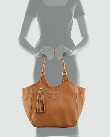 Thea Round Tote Bag, Royal Tan