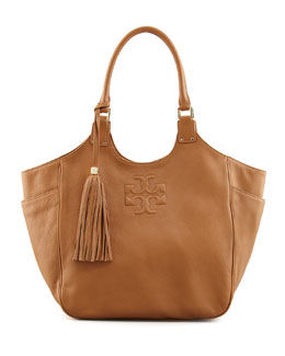 Tory Burch Thea Round Tote Bag, Royal Tan