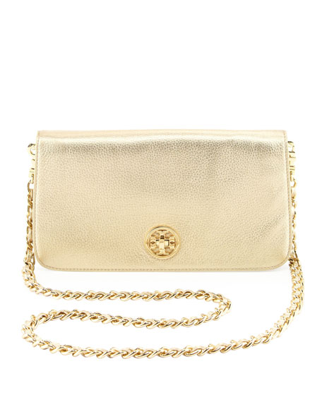 Adalyn Metallic Clutch Bag, Gold