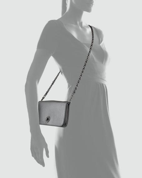 Adalyn Metallic Clutch Bag, Gunmetal