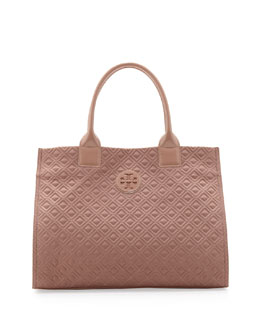 Tory Burch Ella Quilted Tote, Blush