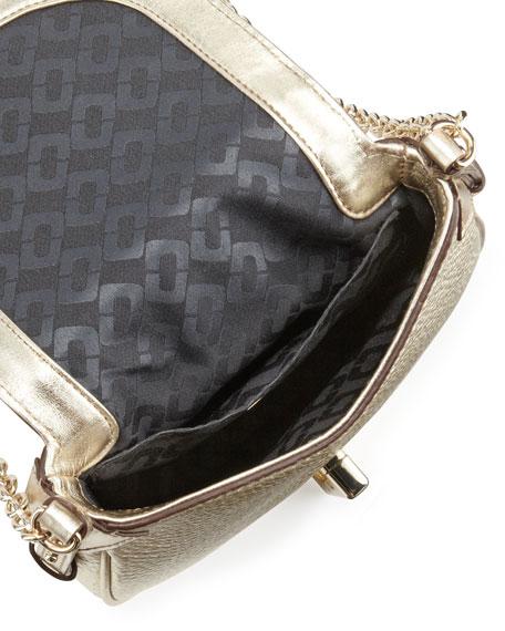 Sutra Mini Metallic Crossbody Bag, Light Gold