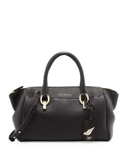 Diane von Furstenberg Sutra Leather Duffle, Black