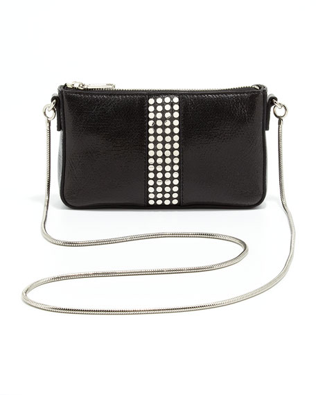 Studded Mini Shoulder Bag, Black