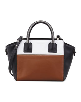 Milly Logan Small Colorblock Tote Bag, Luggage