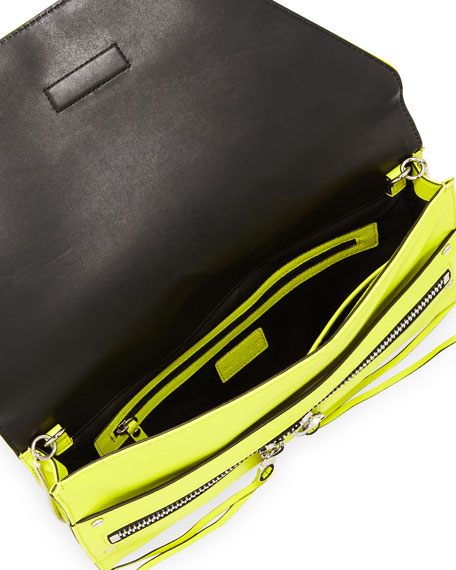 Riley Kidskin Clutch Bag, Limeade