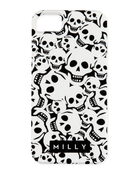 Skull iPhone® 5 Case, Black/White