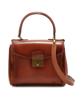 Marc Jacobs Grand Metropolitan Waxed Mini Satchel Bag, Luggage