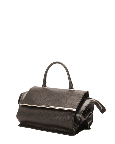 Parigi Mini Flap Satchel Bag, Black