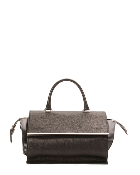 CoSTUME NATIONAL Parigi Mini Flap Satchel Bag, Black