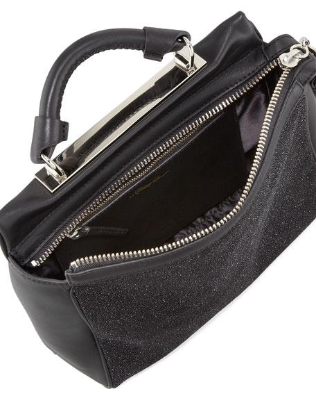 Ryder Small Leather Crossbody Bag, Black