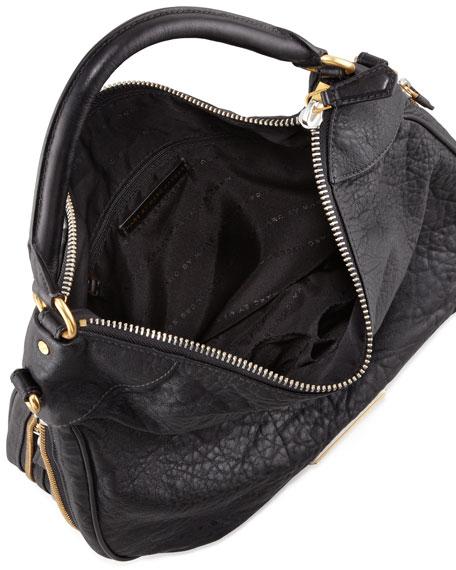 Washed Up Billy Hobo Bag, Black