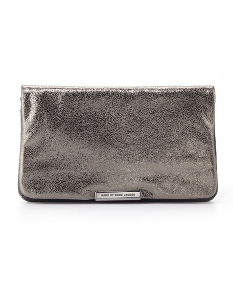 MARC by Marc Jacobs Raveheart Metallic Clutch Bag, Gray