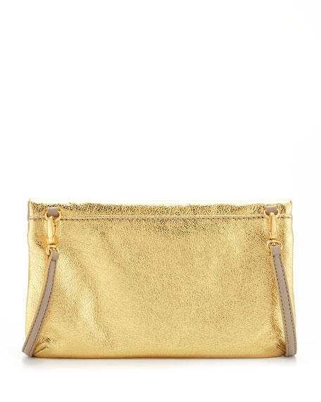 Raveheart Metallic Clutch Bag, Gold
