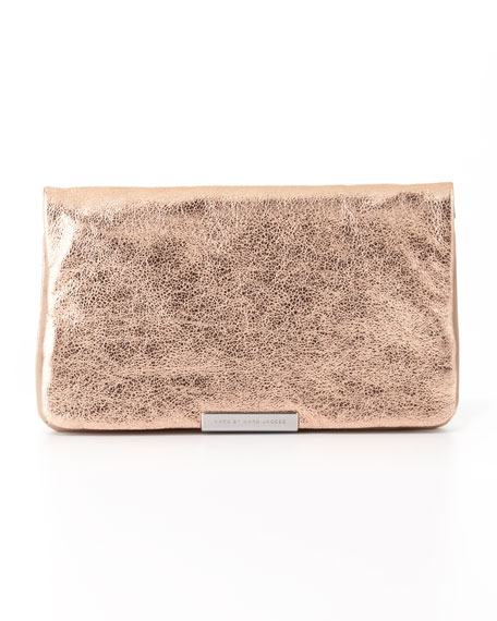 Raveheart Metallic Clutch Bag, Rose Gold