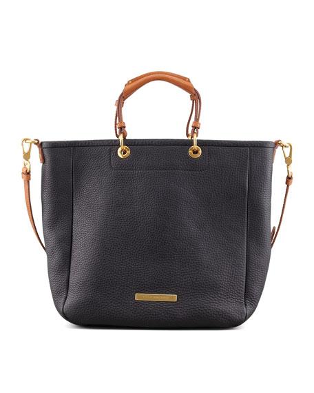 Softy Saddle Tote Bag, Black