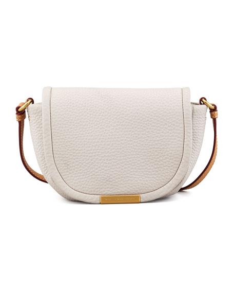Softy Saddle Crossbody Bag, Cream