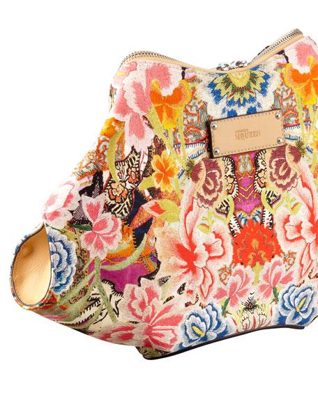 Floral-Print De-Manta Clutch Bag