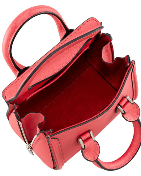 Heroine Mini Satchel Bag, Geranium