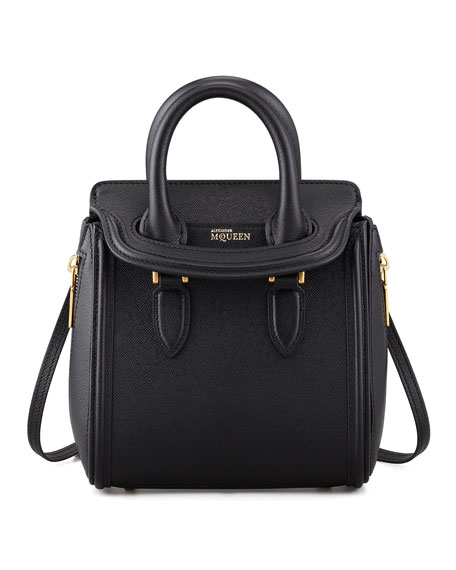 Heroine Mini Satchel Bag, Black