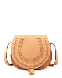 Chloe Marcie Small Satchel Bag, Rose Milk