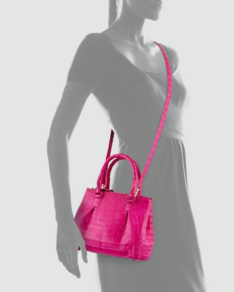 Open-Top Satchel Crossbody Bag, Pink