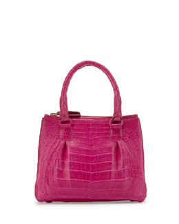 Nancy Gonzalez Open-Top Satchel Crossbody Bag, Pink