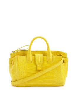 Nancy Gonzalez Small Crocodile Tote Bag, Yellow (Made to Order)