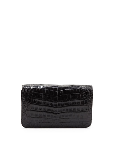 Crocodile Wallet on a Chain, Black
