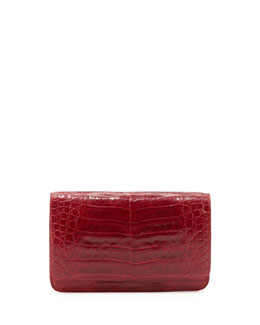 Nancy Gonzalez Crocodile Wallet on a Chain, Red