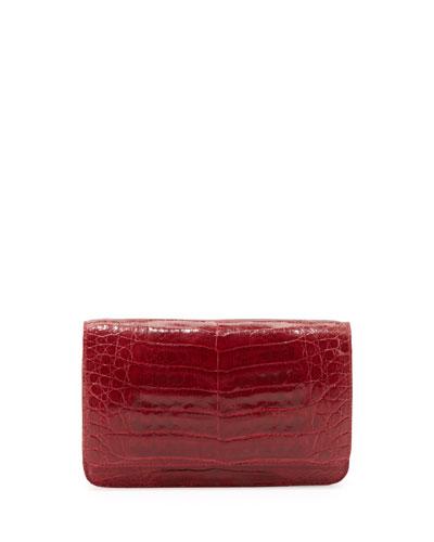 Nancy Gonzalez Crocodile Wallet on a Chain, Red