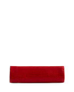 Nancy Gonzalez Slim Crocodile Clutch Bag, Red
