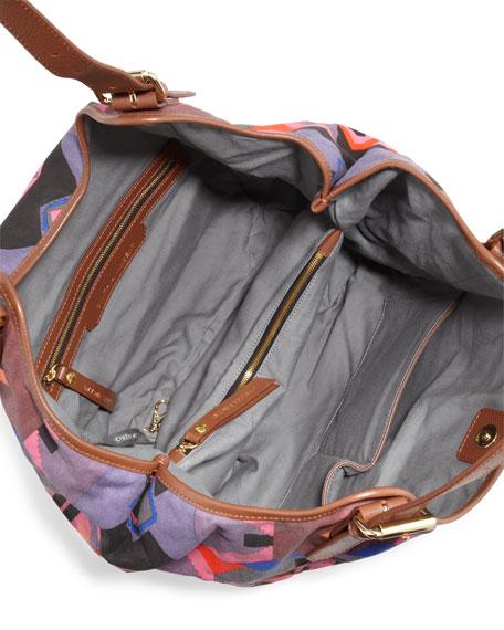 Berkeley Printed Tote Bag, Fuchsia