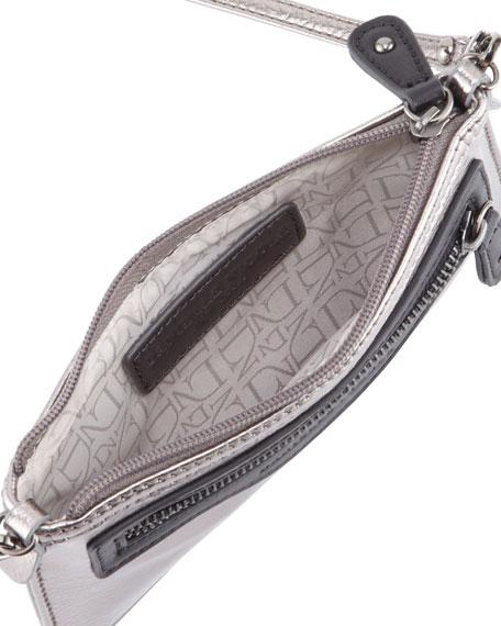 Davina Mini Metallic Crossbody Bag, Gunmetal