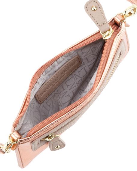 Davina Mini Metallic Crossbody Bag, Rose Gold