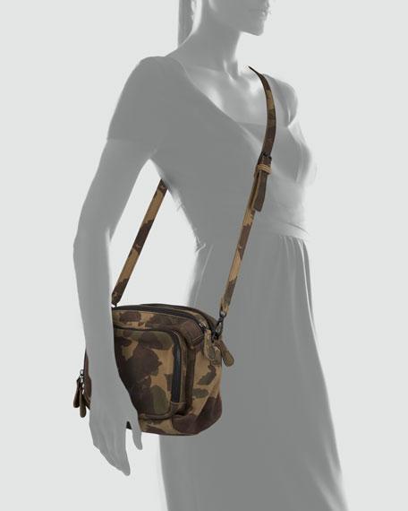 Megan Camo-Print Messenger Bag