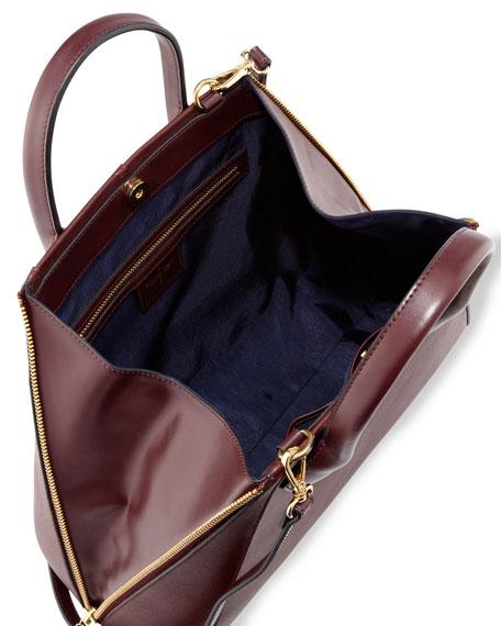 Yves Alsace Medium Tote Bag, Aubergine