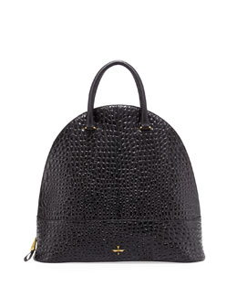 Pour la Victoire Nora Pebbled Dome Tote Bag, Black