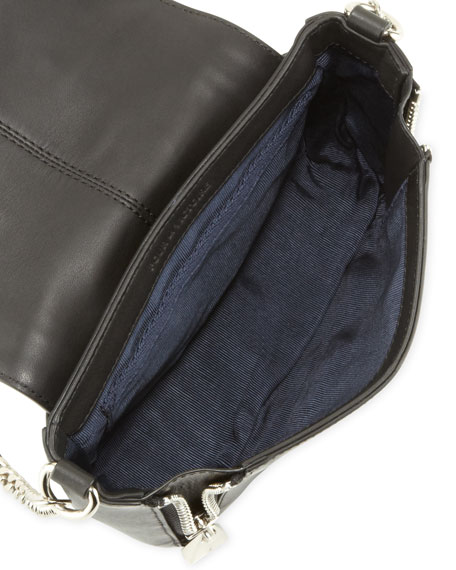 Elie and Alsace Embossed Crossbody Bag, Black