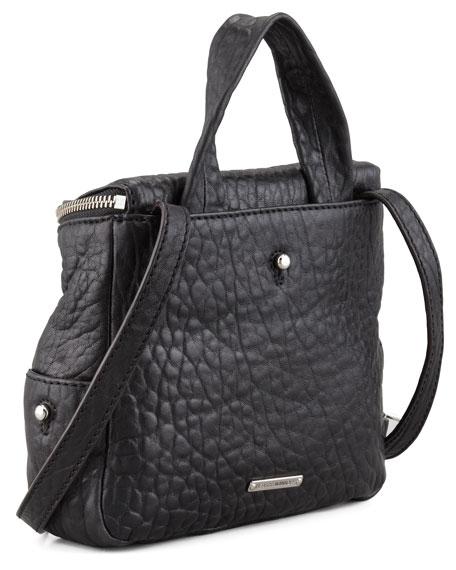 Zach Mini Backpack/Crossbody Bag, Black