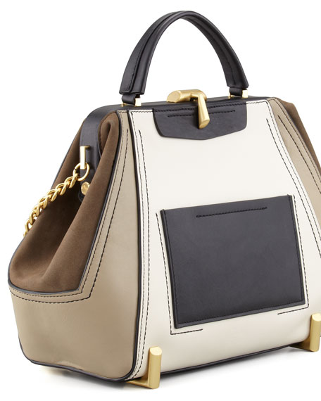 Z Spoke Zac Posen Daphne Colorblock Doctor Bag, Cashmere