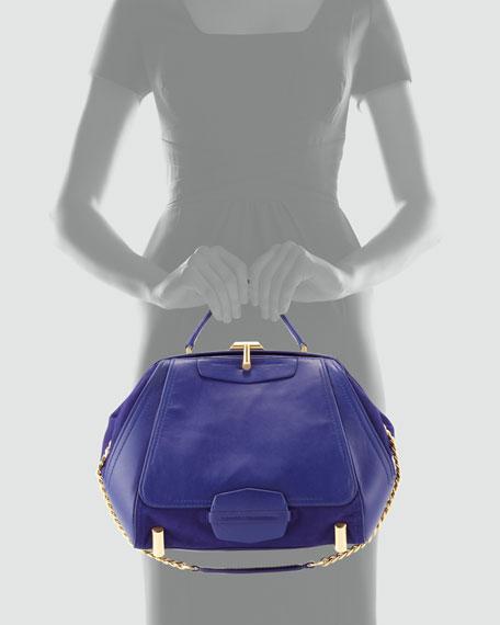 Daphne Leather Doctor Bag, Azure