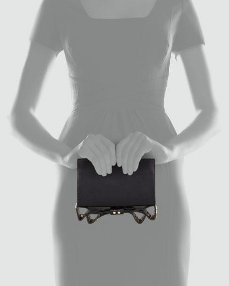 Milla Small Frame Clutch Bag, Black