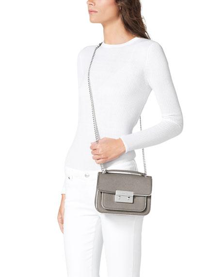 Small Sloan Saffiano Shoulder Flap Bag