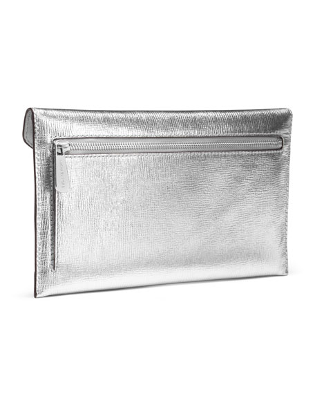 Large Jet Set Jeweled Travel Envelope Clutch