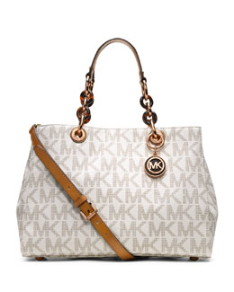 MICHAEL Michael Kors  Medium Cynthia Logo Satchel