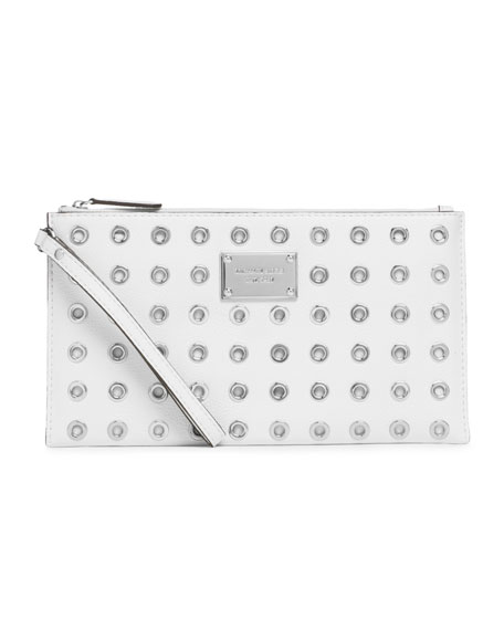 Large Jet Set Grommet Zip Clutch