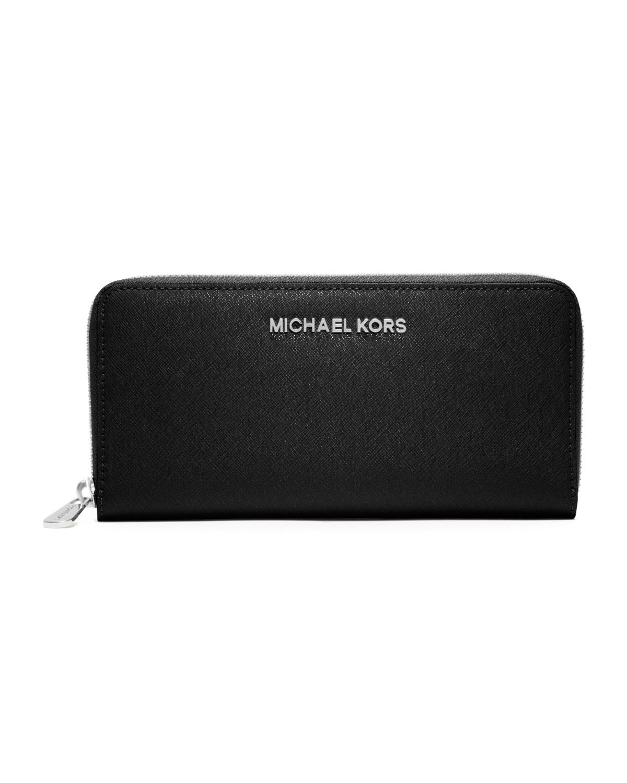 4cd05069d535 MICHAEL Michael Kors Jet Set Travel Continental Wallet, Black ...
